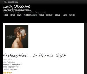 Protomythos on LadyObscure.com
