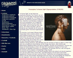 Protomythos In Human Sight - Ragazzi Review
